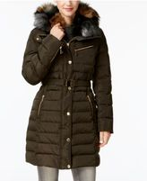MICHAEL Michael Kors Faux-Fur-Collar Hooded Down Puffer Coat