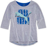 Puma Kids Apparel Graphic T-Shirt-Big Kid Girls
