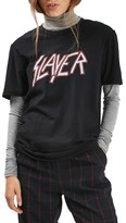 Topshop Petite Women's By And Finally Slayer Graphic Tee