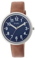 Simplify The 2600 Collection SIM2602 Unisex Watch with Leather Strap