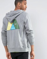 Poler Zip Up Hoodie With Mountain Back Print