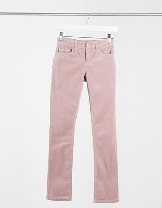 JDY Era skinny cord trouser in mauve