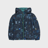 Paul Smith Boys' 7+ Years Navy New York Print 'Manu' Packable Jacket