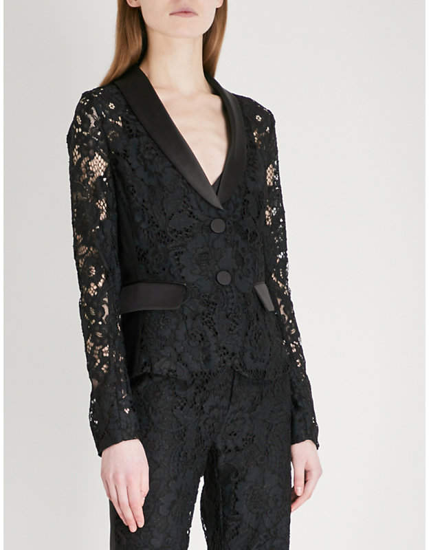 Alexis Luella single-breasted lace jacket