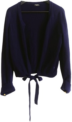 Chanel Navy Cashmere Knitwear
