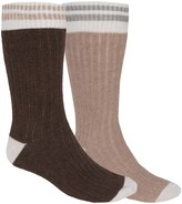 Ecco Angora-Wool Blend Casual Socks - 2-Pack, Over the Calf (For Men)