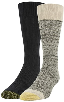 Gold Toe Recycled Fairisle Dress Socks 2-Pack