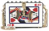 Dolce & Gabbana Dolce Box embellished leather clutch