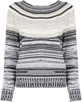 Lamberto Losani Striped Knit Jumper