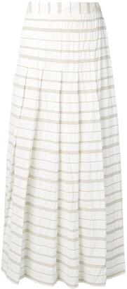 Lorena Antoniazzi striped pleated maxi skirt