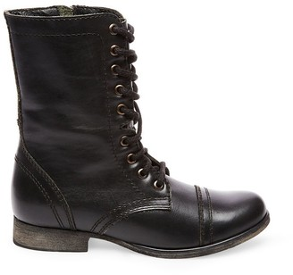 Steve Madden Troopa Black Leather