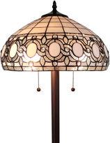 AMORA Amora Lighting AM232FL16 tiffany style floral white floor lamp 62 in high