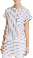 Vince Camuto Linen Stripe Tunic Top