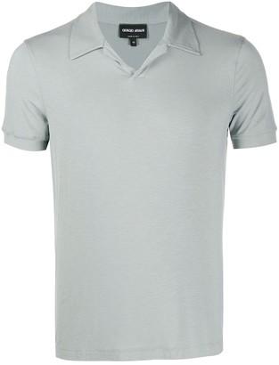 Giorgio Armani Open-Collar Polo Shirt