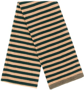 Societe Anonyme Striped Knitted Scarf
