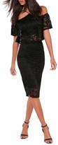 Missguided Women's Lace Pencil Skirt