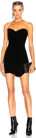 Alexandre Vauthier Tailored Velvet Strapless Mini Dress