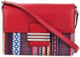 Etro woven crossbody satchel