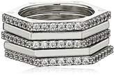 """Nicole Miller Artelier"""" Hex Set of 5 Stackable Ring, Size 7"""