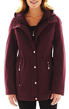 Liz Claiborne Soft Shell Hooded Jacket - Talls