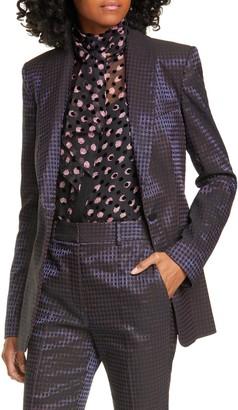 Diane von Furstenberg Halzie Dot Jacquard Jacket
