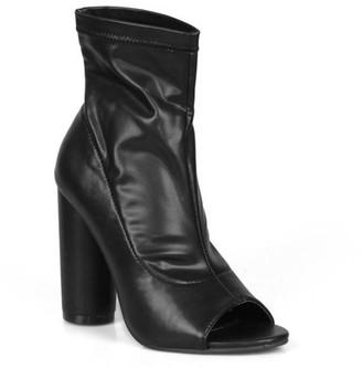 Fahrenheit Peep-toe Women's Chunky Heel Booties