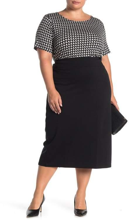 14th & Union Ponte Skirt (Plus Size)