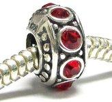 Queenberry .925 Sterling Silver Sapphire CZ Crystal September Birthstone Bead For European Chamilia Biagi Troll Pandora Charm Bracelets
