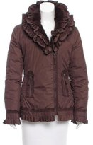 Moschino Fur-Trimmed Down Coat