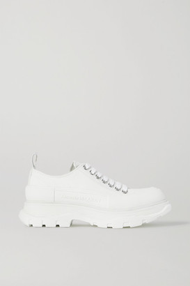 Alexander McQueen Canvas Exaggerated-sole Sneakers - White