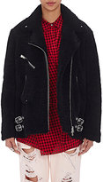 Alexander Wang Women's Shearling Moto Jacket-BLACK