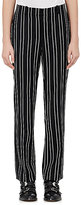Givenchy Women's Striped Wool Twill Trousers-BLACK