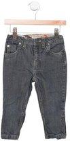 Burberry Girls' Nova Check-Trimmed Straight-Leg Jeans