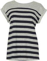 Izabel London Striped Cuff-Sleeve Top