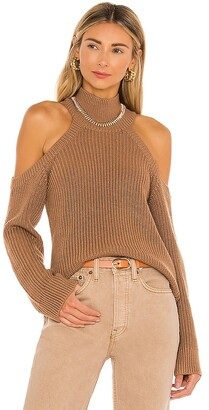 Lovers + Friends Cold Shoulder Ribbed Turtleneck