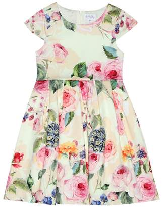 Rachel Riley Floral stretch-cotton dress