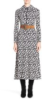 Saint Laurent Women's Star Print Crepe Midi Dress