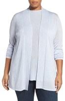 Eileen Fisher Sleek Knit Kimono Cardigan (Plus Size)
