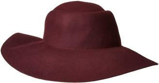 San Diego Hat Company Women's 4 Inch Brim Pleated Crown Floppy Hat with Gold Bar Trim