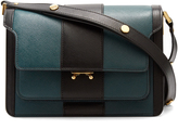 Marni Trunk striped medium saffiano-leather shoulder bag