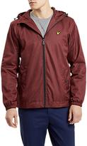 Lyle & Scott Marl Zip Through Hooded Jacket, Claret Marl