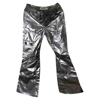 Marques Almeida Silver Polyester Trousers