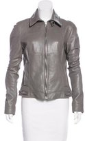 Dolce & Gabbana Leather Collared Jacket