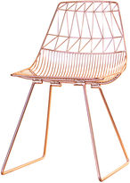 Bend Goods Lucy Wire Chair, Copper