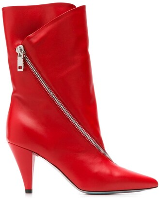 Givenchy Zipped Mid-Heel Boots