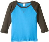 City Threads V-Stitch Raglan Tee (Toddler/Kid) - Orange/Navy - 3T