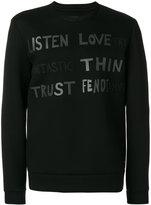 Fendi printed sweatshirt - men - Polyester/Viscose - 46