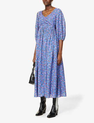 LoveShackFancy Roslyn floral-print cotton midi dress