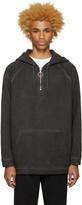 Off-White Black Garment Dye Hoodie