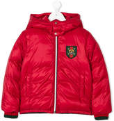 Gucci Kids embroidered patch padded jacket